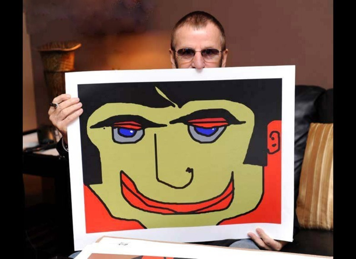 "Ringo with ""Eye Lidded Man"""