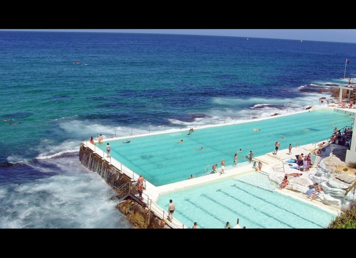 """The <a href=""""http://icebergs.com.au/"""" target=""""_hplink"""">Bondi Icebergs Club</a> was founded in Australia in 1929, but the pool"""