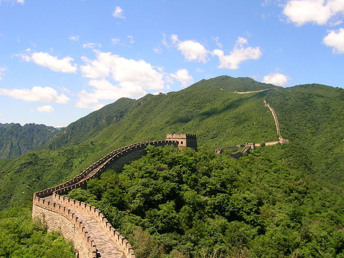 The Great Wall of China is an extraordinary feat of construction, first begun in the 5th century BC, which stretches for more