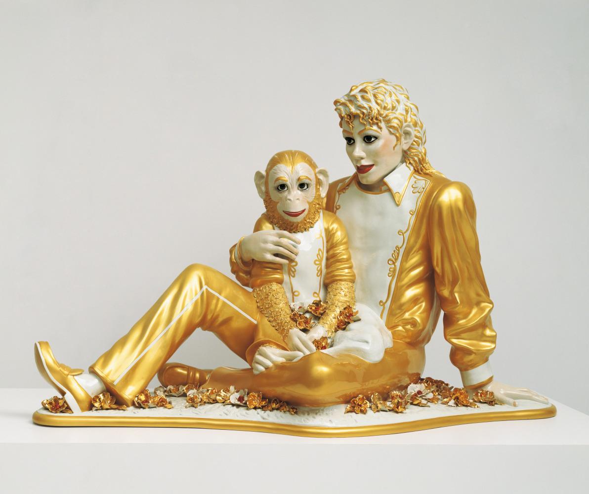 Jeff Koons Michael Jackson and Bubbles, 1988 Banality porcelain 106.7 x 179.1 x 82.6 cm © Jeff Koons