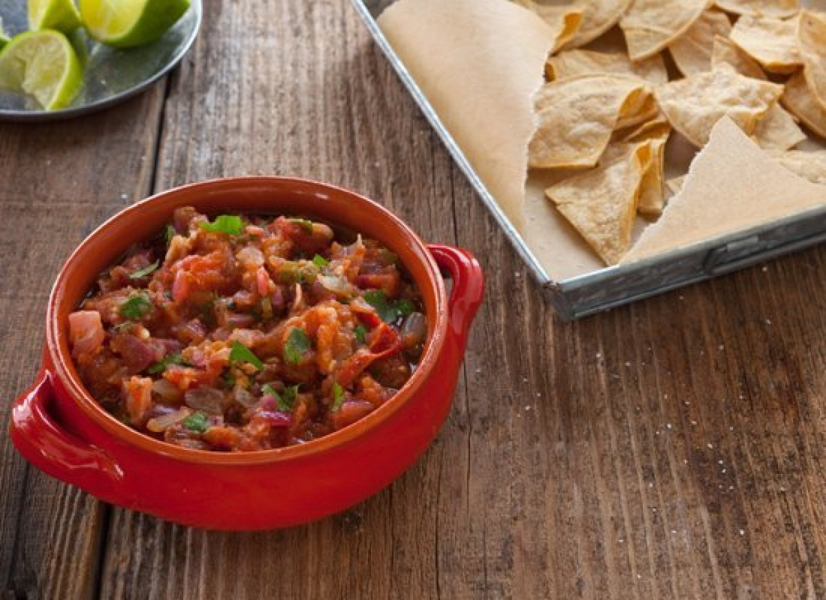 """<strong>Get the Recipe for <a href=""""http://www.huffingtonpost.com/2011/10/27/charred-tomato-salsa_n_1059860.html"""" target=""""_hp"""
