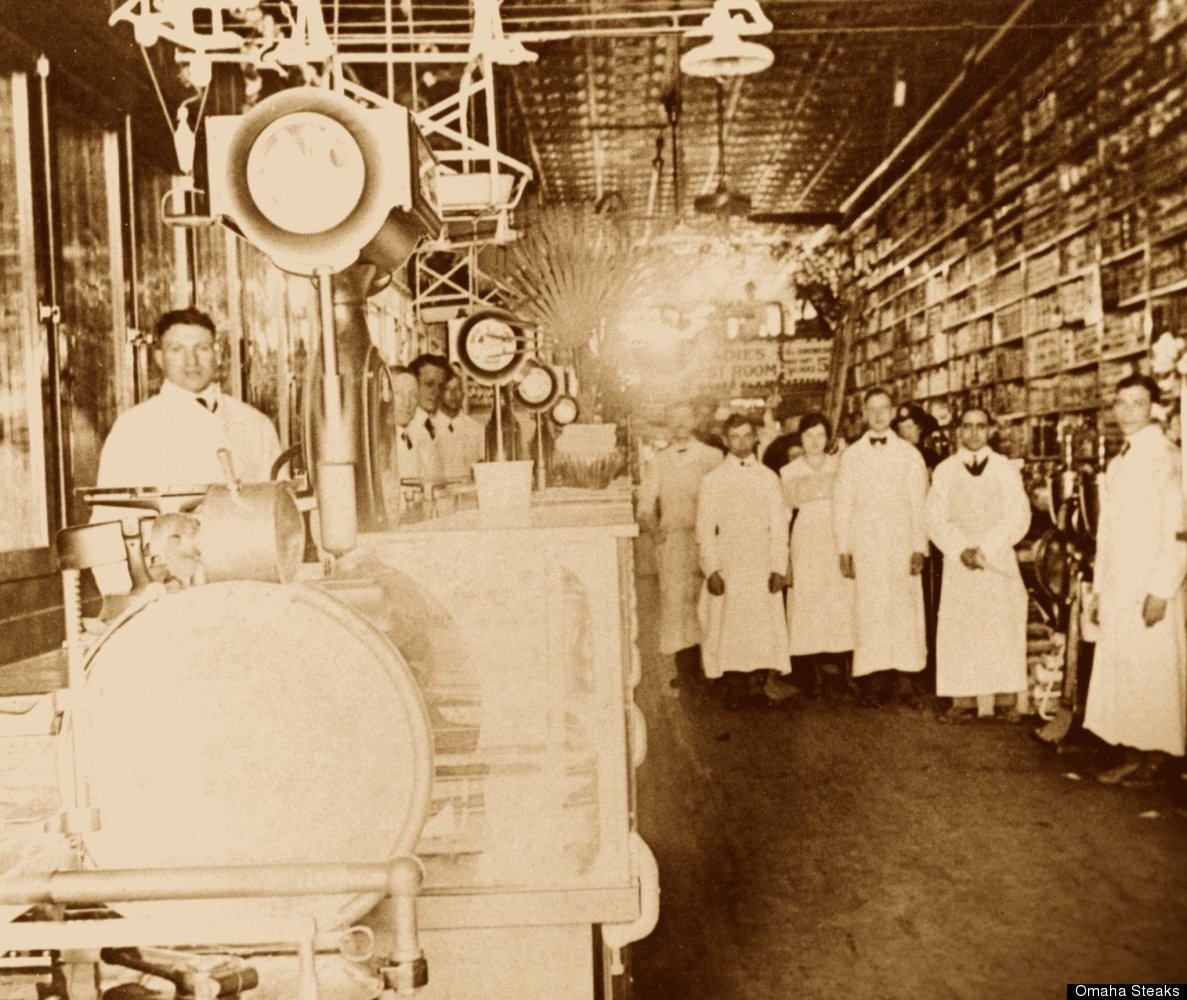 This is a photo from J.J. Simon's first butcher shop. At that time, the company was called Table Supply Meat.