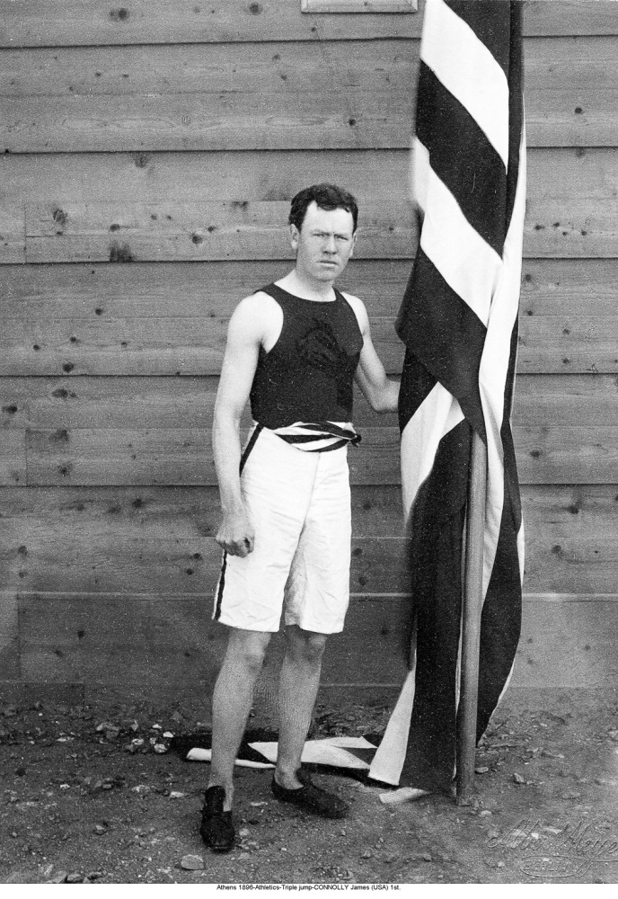 Denied leave from Harvard to compete in the 1896 Olympic Games, Connolly went to Athens anyway and won the competition's firs