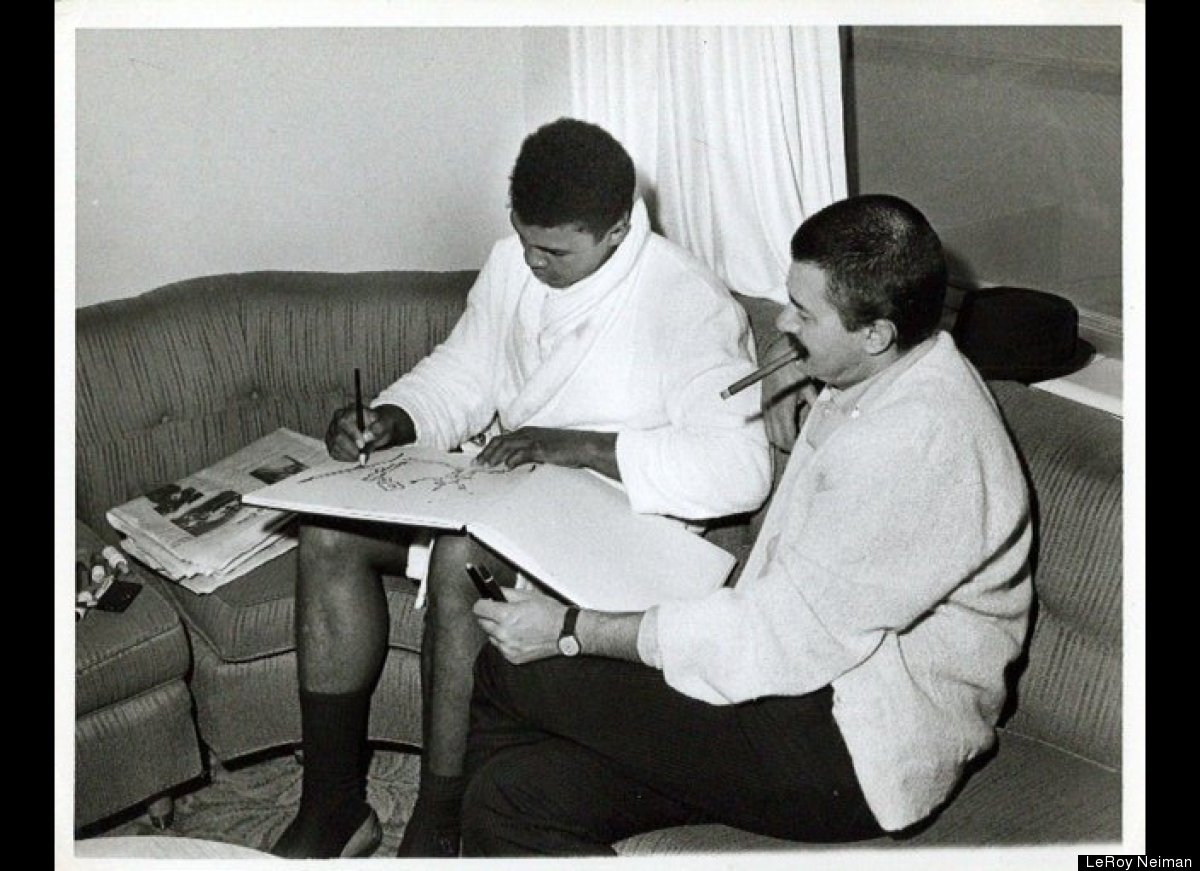 LeRoy Neiman and Muhammad Ali in Miami in 1964