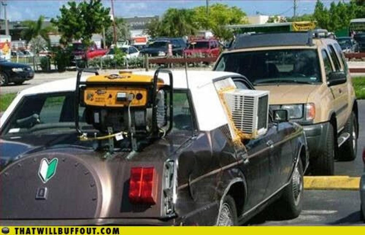 If it keeps your car at a cool 65 degrees, who are we to judge?