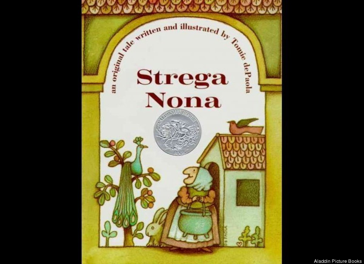 Tomie dePaola's 1975 book about an elderly woman's magical pasta pot won him the Caldecott Honor in the next year.