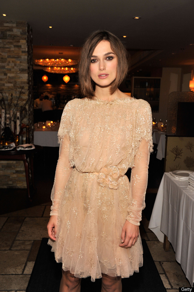 British beauty <strong>Kiera Knightley</strong> goes for an easy style with a straight bob and no bangs.