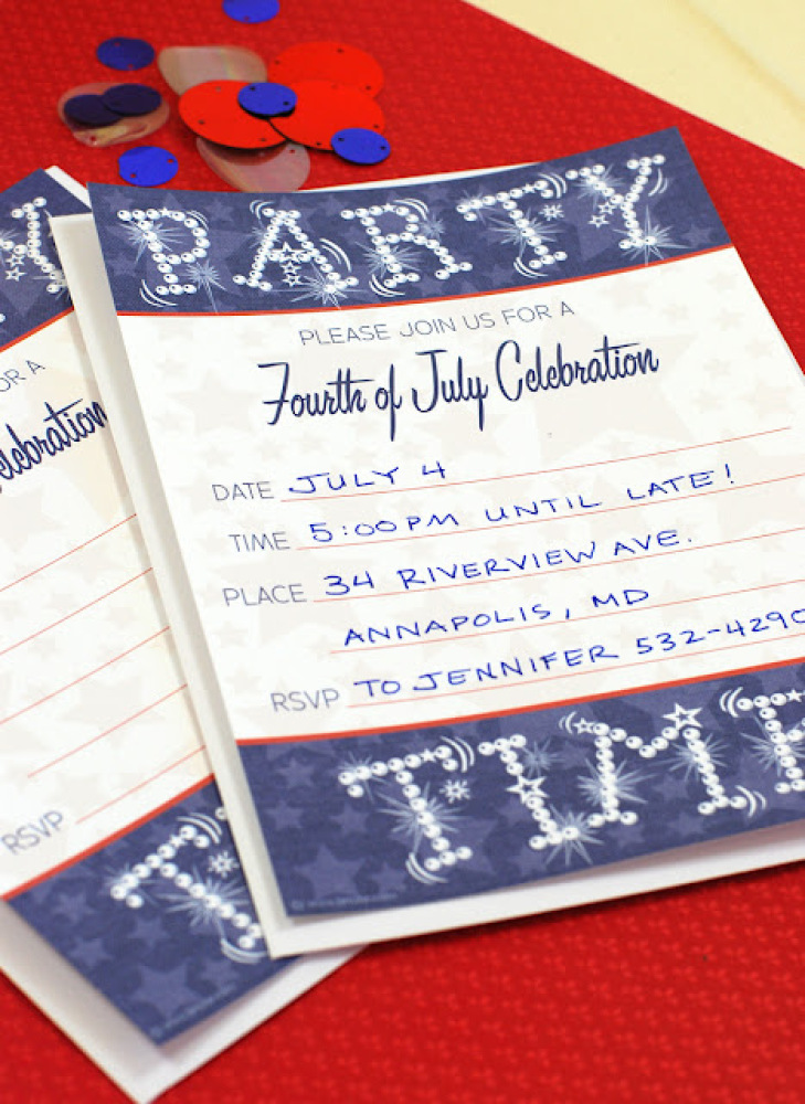 """These<a href=""""http://bnute.blogspot.com/2011/06/free-printable-4th-of-july-or-summer.html"""" target=""""_hplink""""> """"party time"""" inv"""