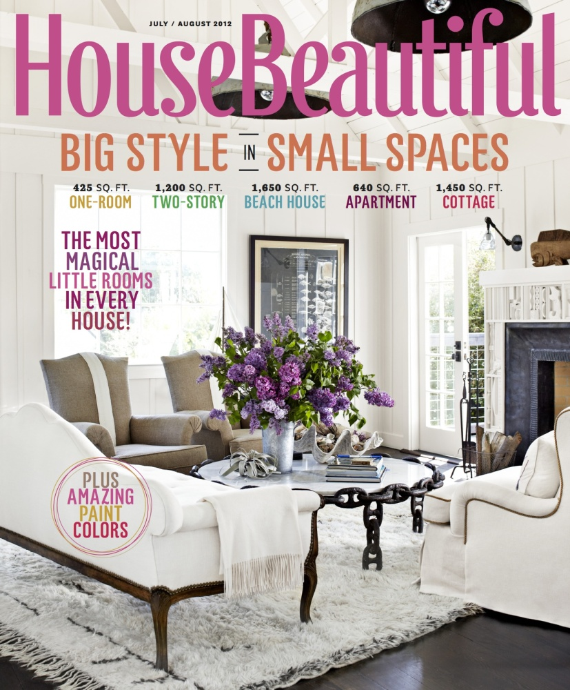 House Beautiful.com House Beautiful Julyaugust 2012 Celebrates Small Spaces With Big