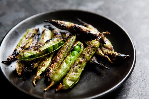 "<strong>Get the <a href=""http://www.simplyrecipes.com/recipes/grilled_english_peas/"" target=""_blank"">Grilled English Peas rec"