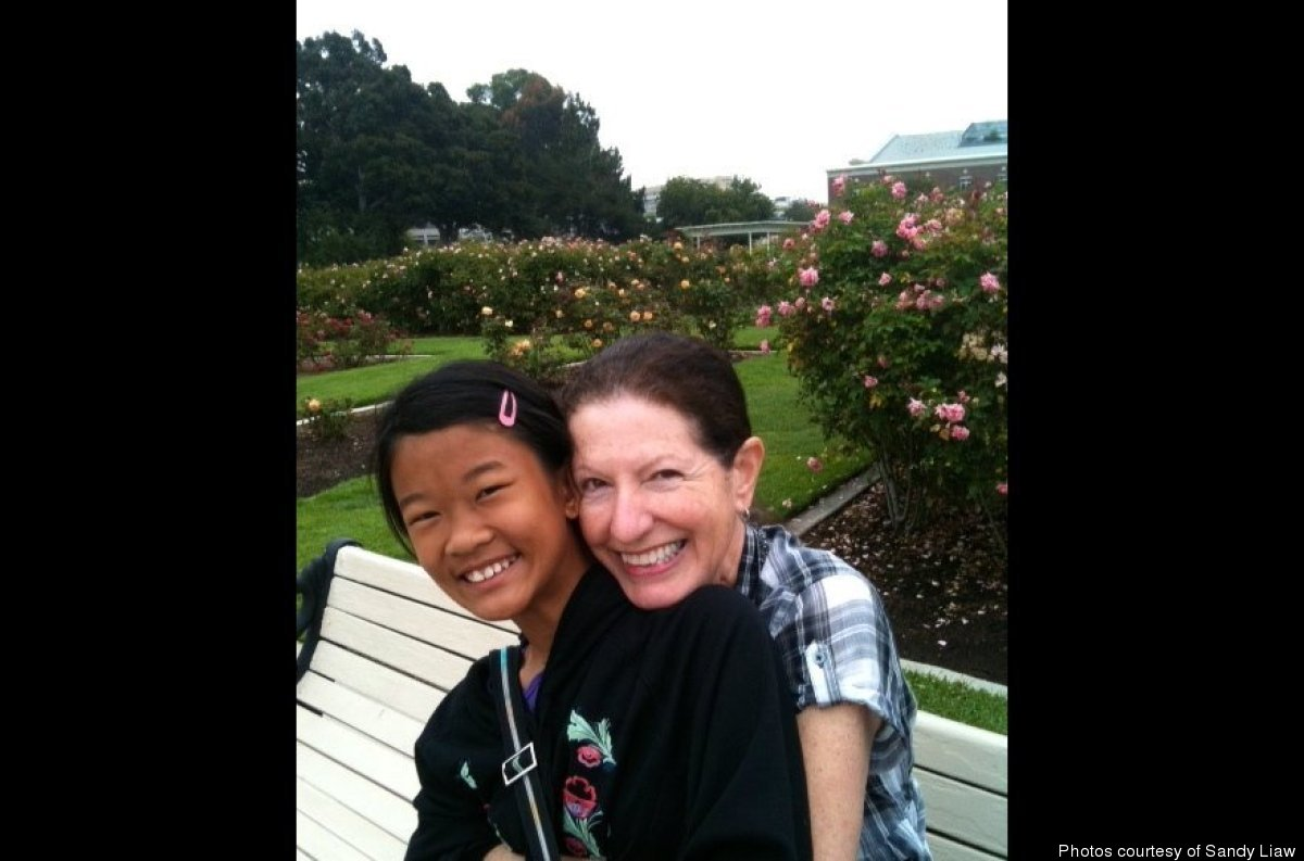 Liaw with daughter Sofia at the Rose Garden by the Natural History Museum.