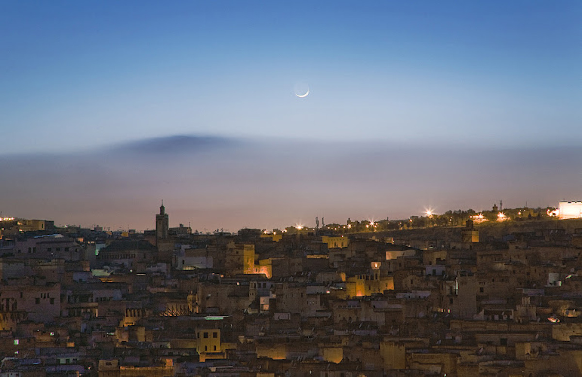 The ancient city of Fes, Morocco, the world's largest thriving medieval city, hosts an annual festival of sacred music from a