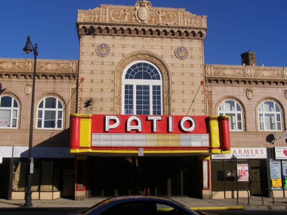 The Patio Theater, 6008 W. Irving Park Rd., from the outside.