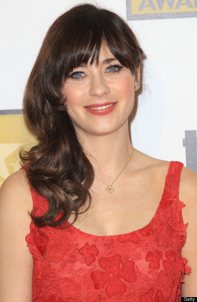 """Totally """"adorkable"""" in her flouncy dresses and bows, there's a fine line between Zooey Deschanel and her """"New Girl"""" character"""