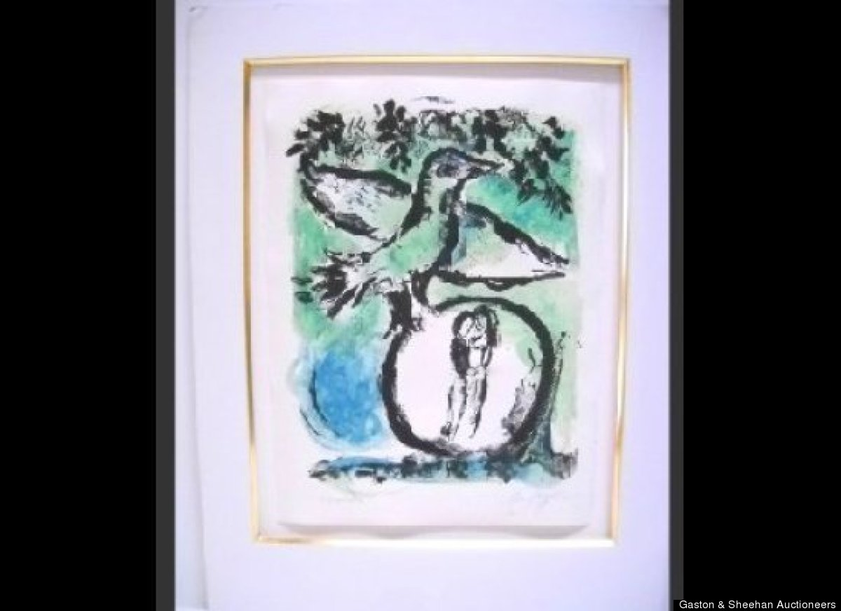 """Green Bird"", 1962, Marc Chagall (1887-1985)"