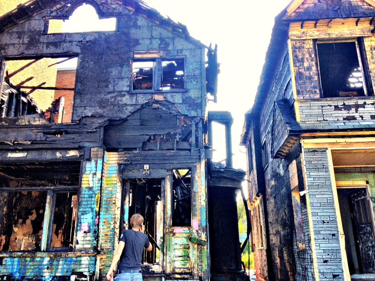 Detroit's Imagination Station, a conceptual creative space centered in two blighted Corktown homes, caught on fire early Wedn