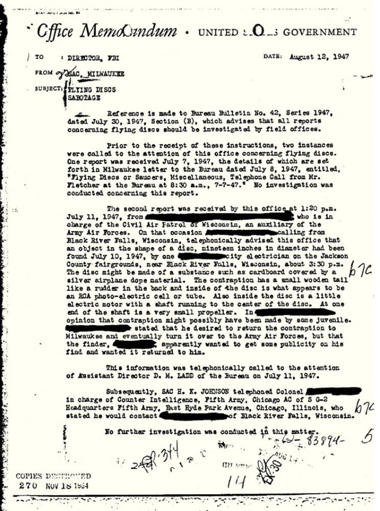 "In early April, the FBI created a new website, <a href=""http://www.aolnews.com/2011/04/20/j-edgar-hoovers-fbi-took-ufos-serio"
