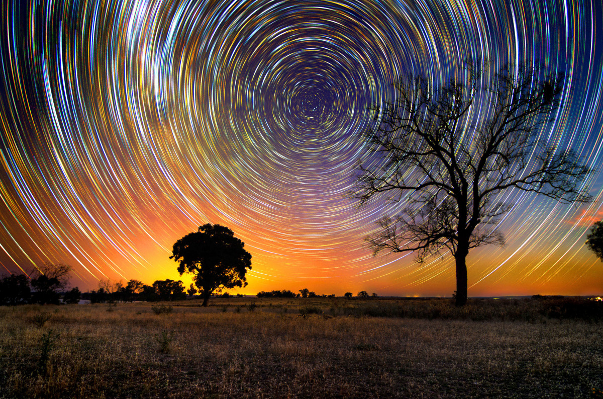 (Pictured the amazing star trails over the Aussie outback) At first glance these pictures look like something that greets you