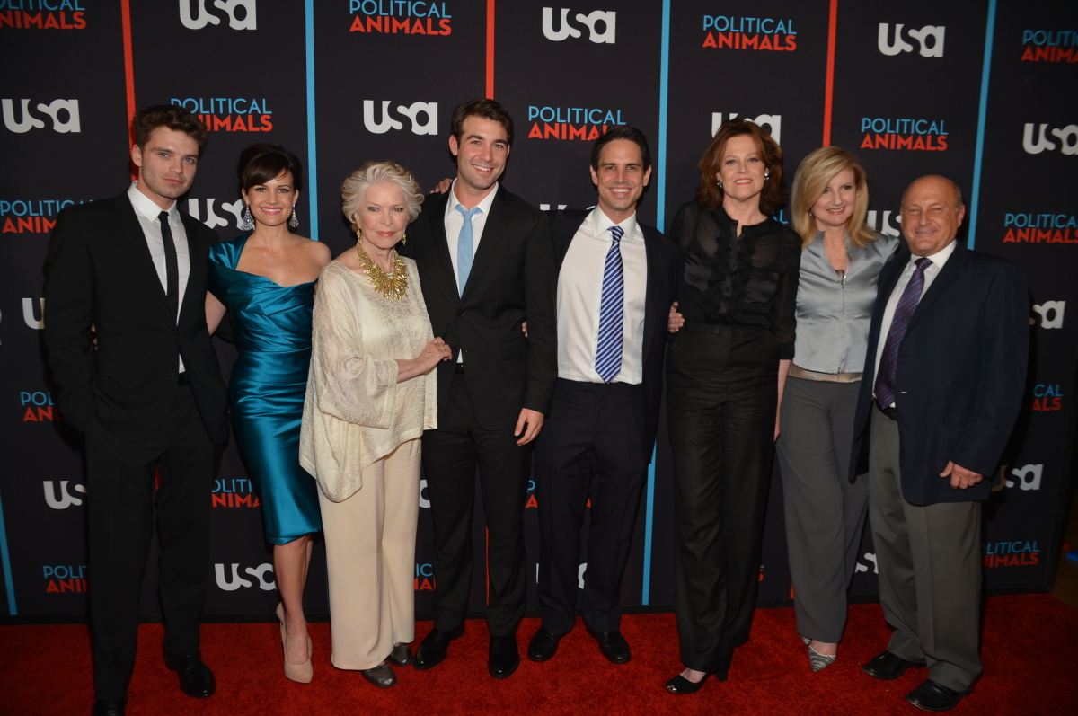 Sebastian Stan, Carla Gugino, Ellen Burstyn, James Wolk, Greg Berlanti, Sigourney Weaver, Arianna Huffington & Laurence Mark