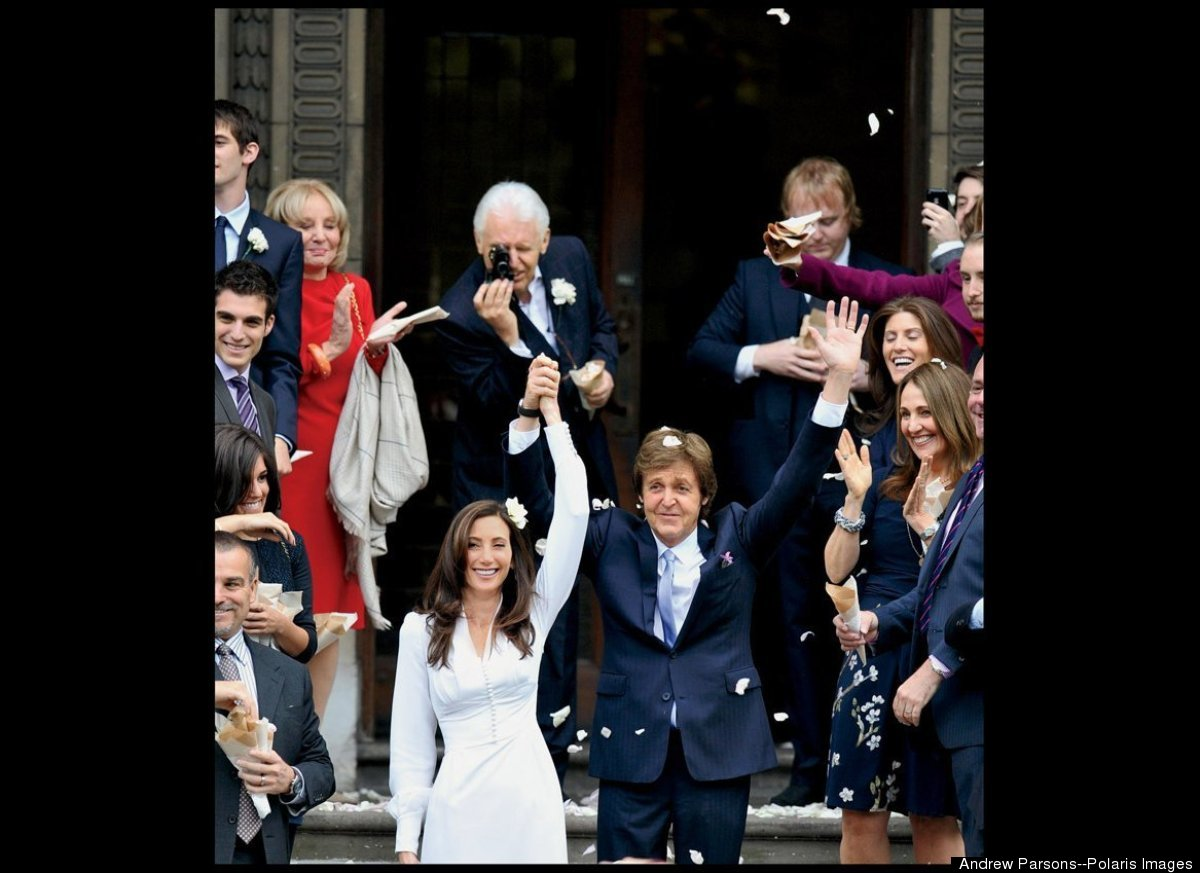 At 69, McCartney gets married, for the third time, to Nancy Shevell, 51, at the same London town hall where he was first wed.