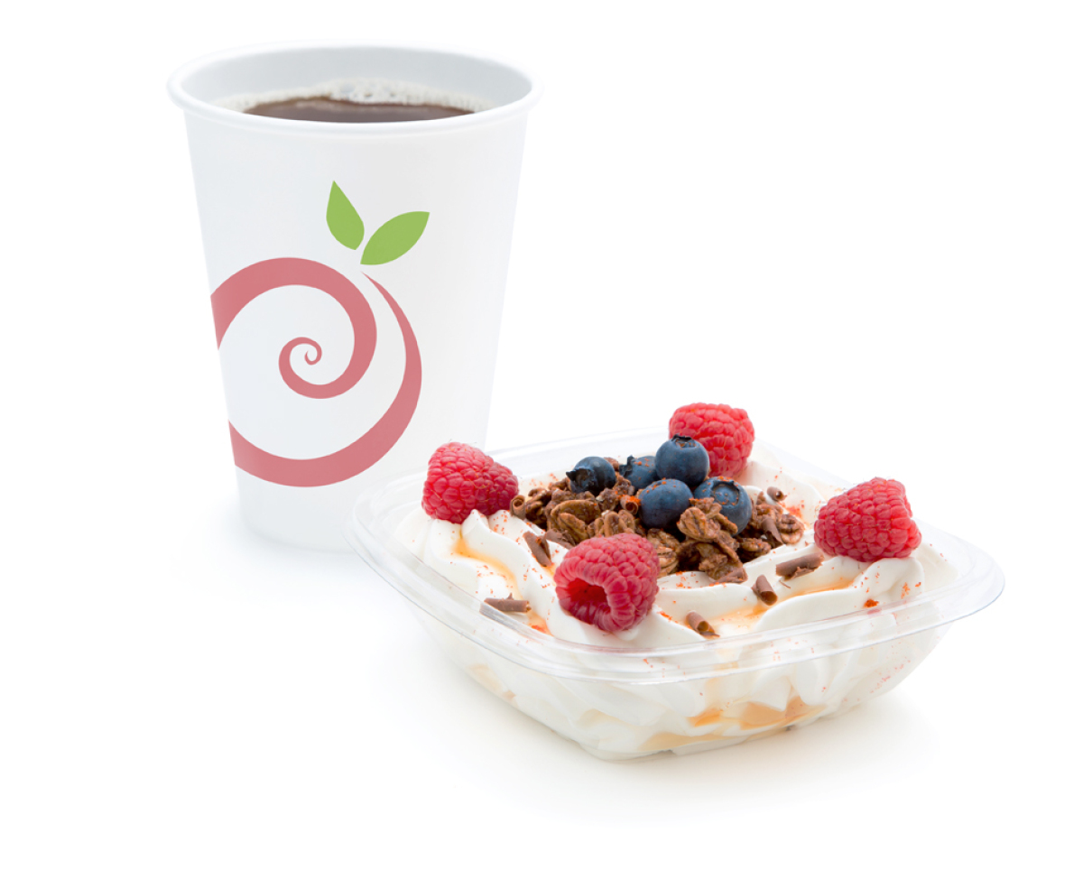 Pinkberry's new coffee and Greek yogurt.  All photos courtesy of Pinkberry unless otherwise noted.