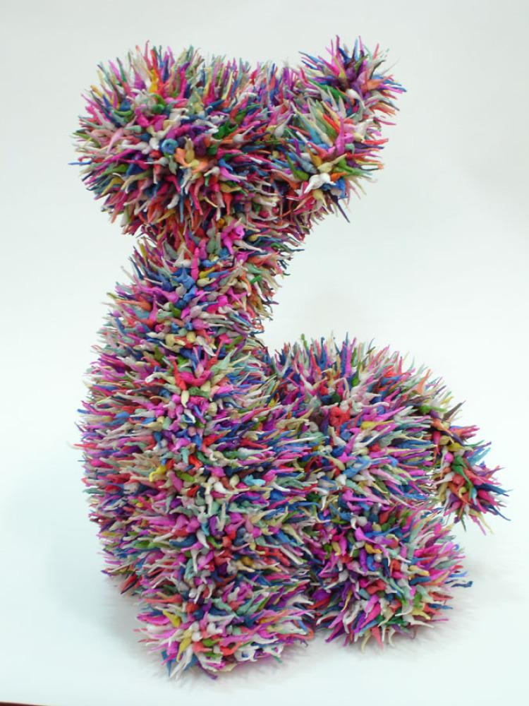 Felipe Barbosa Girafe Firecracker stuffed animal 40x30x26cm 2005 Courtesy  Cosmocopa arte contemporânea