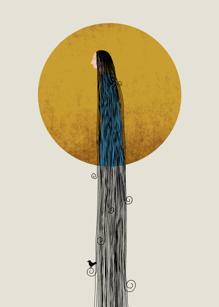 'Acersecomic' A person whose hair has never been cut.  Medium - Original Giclee Print on Hahnemühle 100% Cotton Rag, 310 g