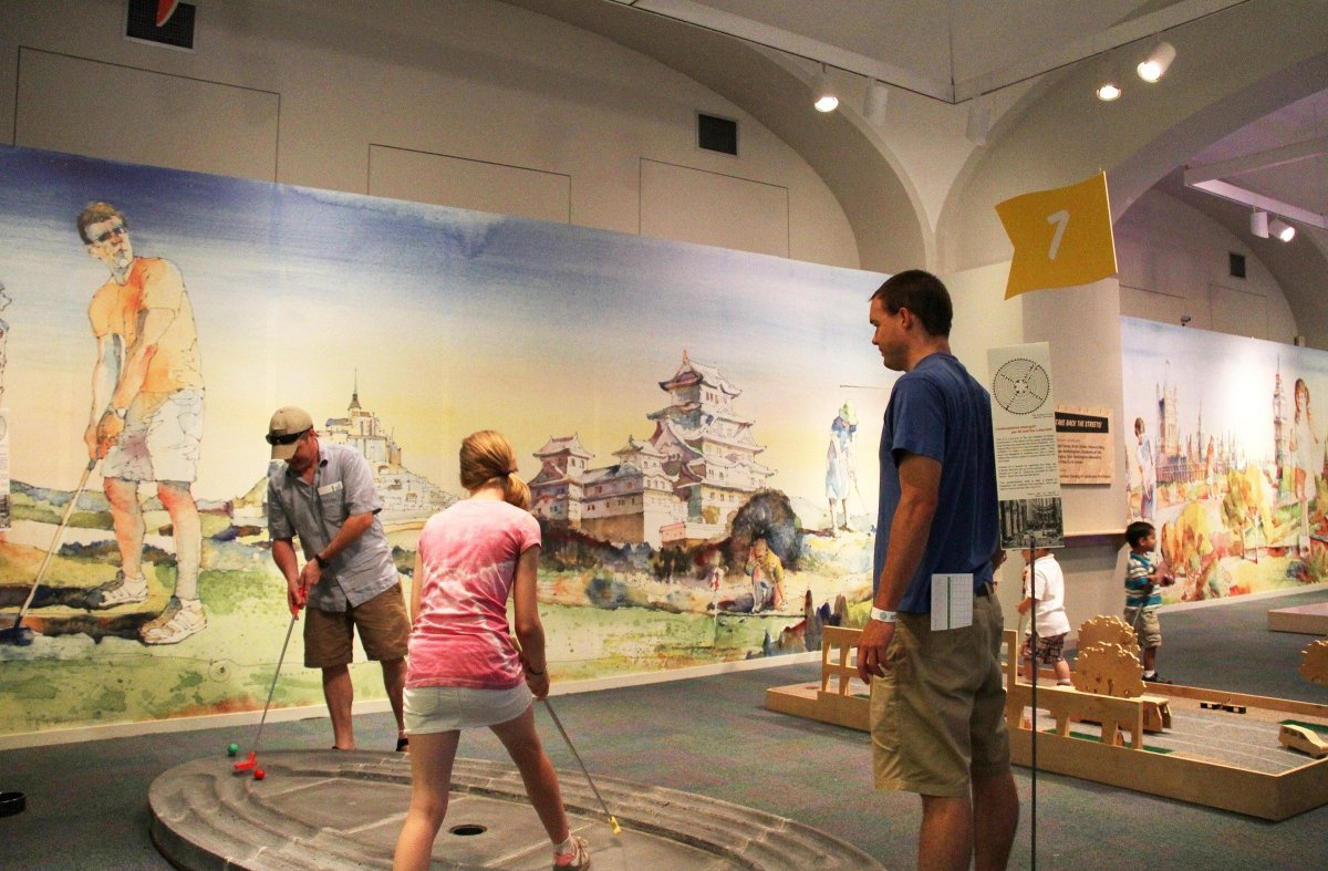 Mini-golf at the Museum is available during regular hours and until 9 p.m. on Thursday, July 26 and Thursday, August 23. Each