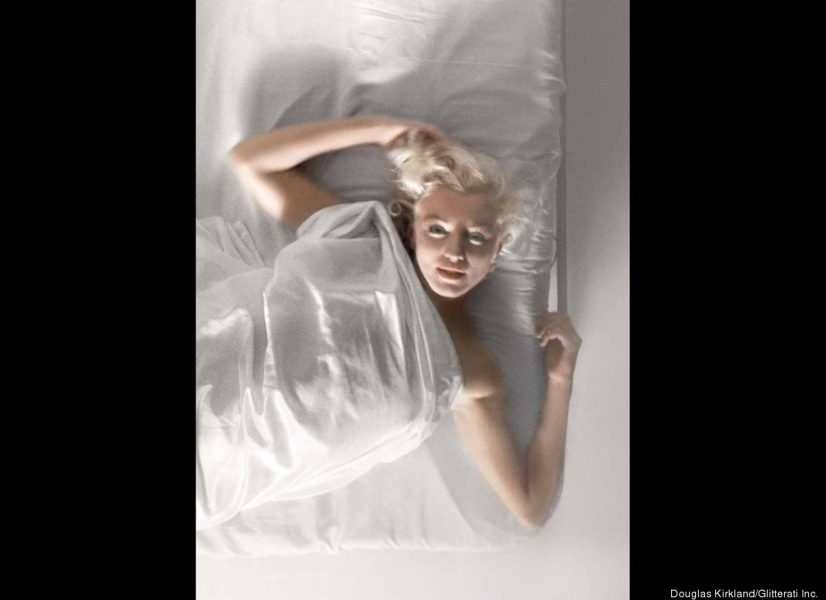 """At a certain point Marilyn herself said, ""I know what we should do. We should have a bed, and a white silk sheet"", she insis"