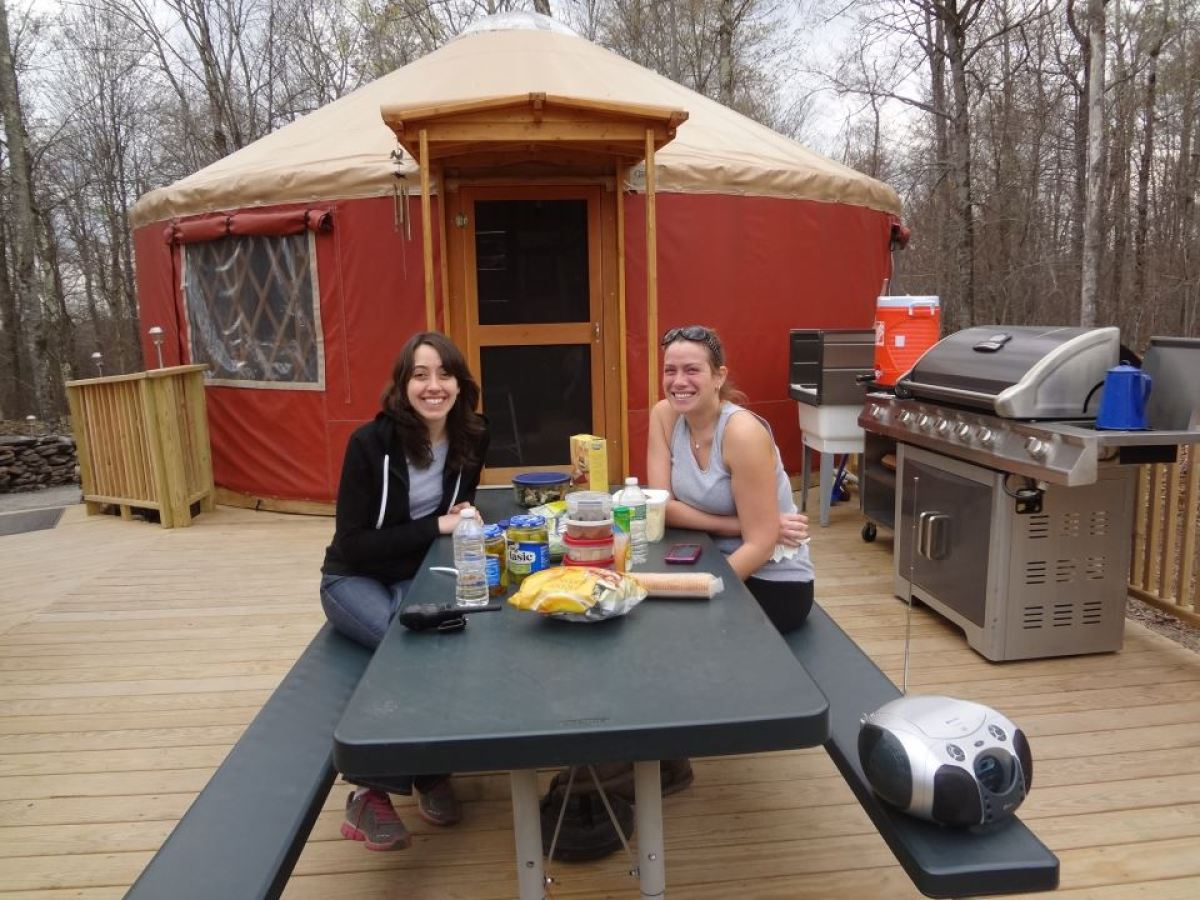 """Located in  New York's Catskill Forest Preserve on the Willowemoc River, the <a href=""""http://www.willowemocwildforestyurt.com"""