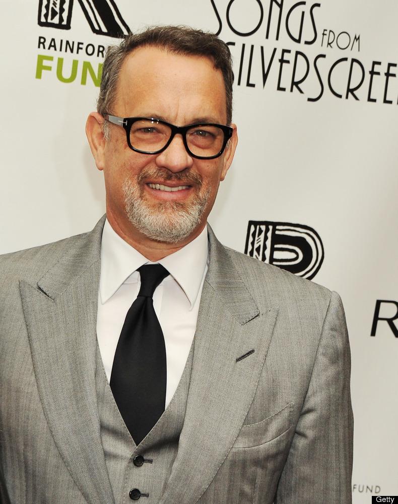 Tom Hanks on the red carpet in 2012.