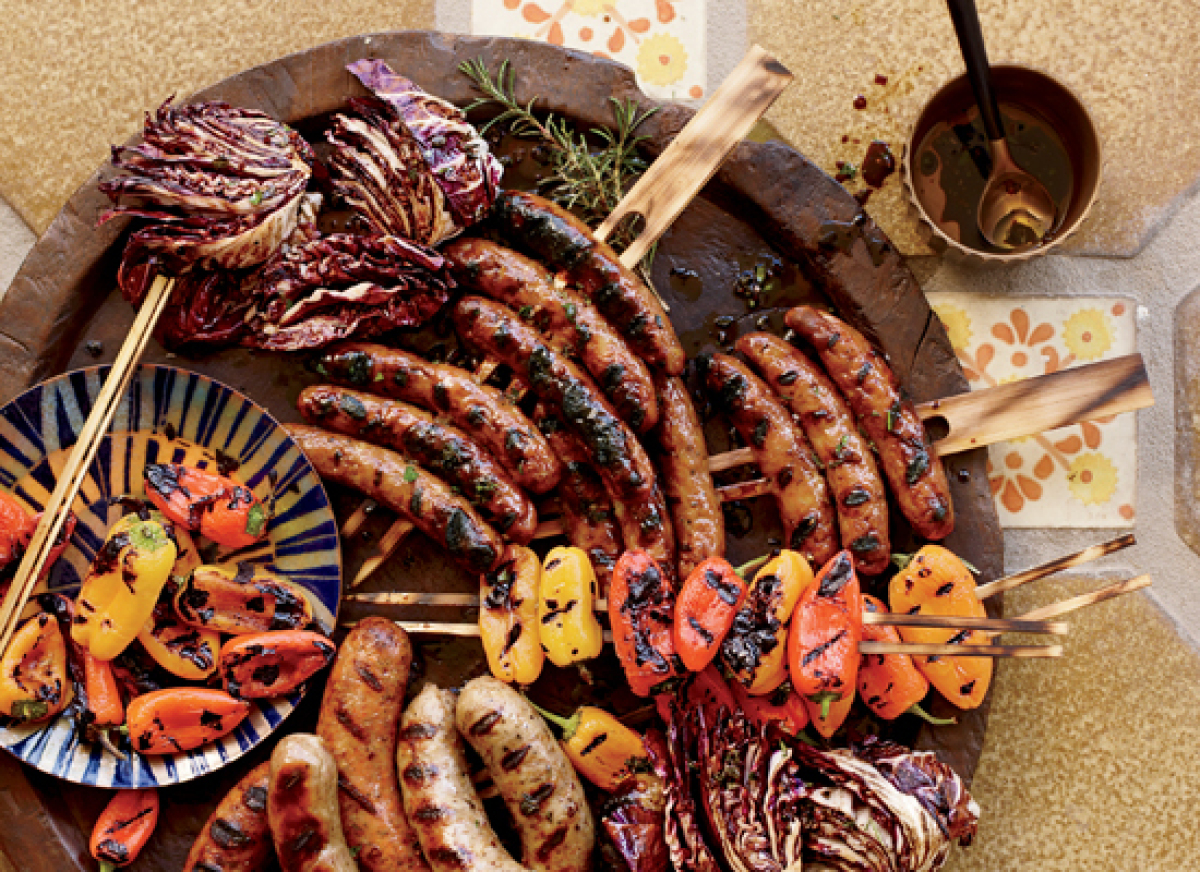 Grilling an assortment of sausages at once is a great way to add a little variety to your dinner table. 