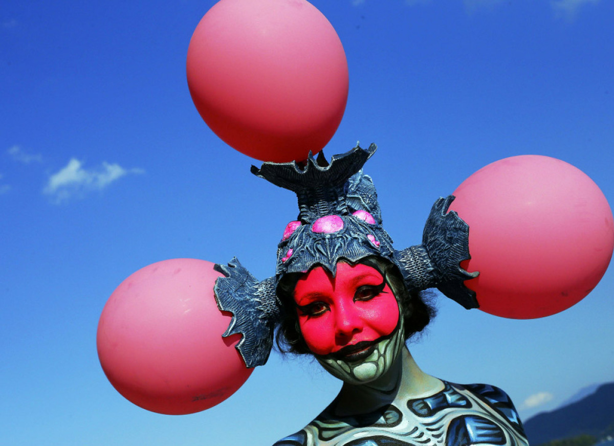 15th World Bodypainting Festival in Poertschach on July 8, 2012. Some 30,000 visitors are expected at the three-day event, wi
