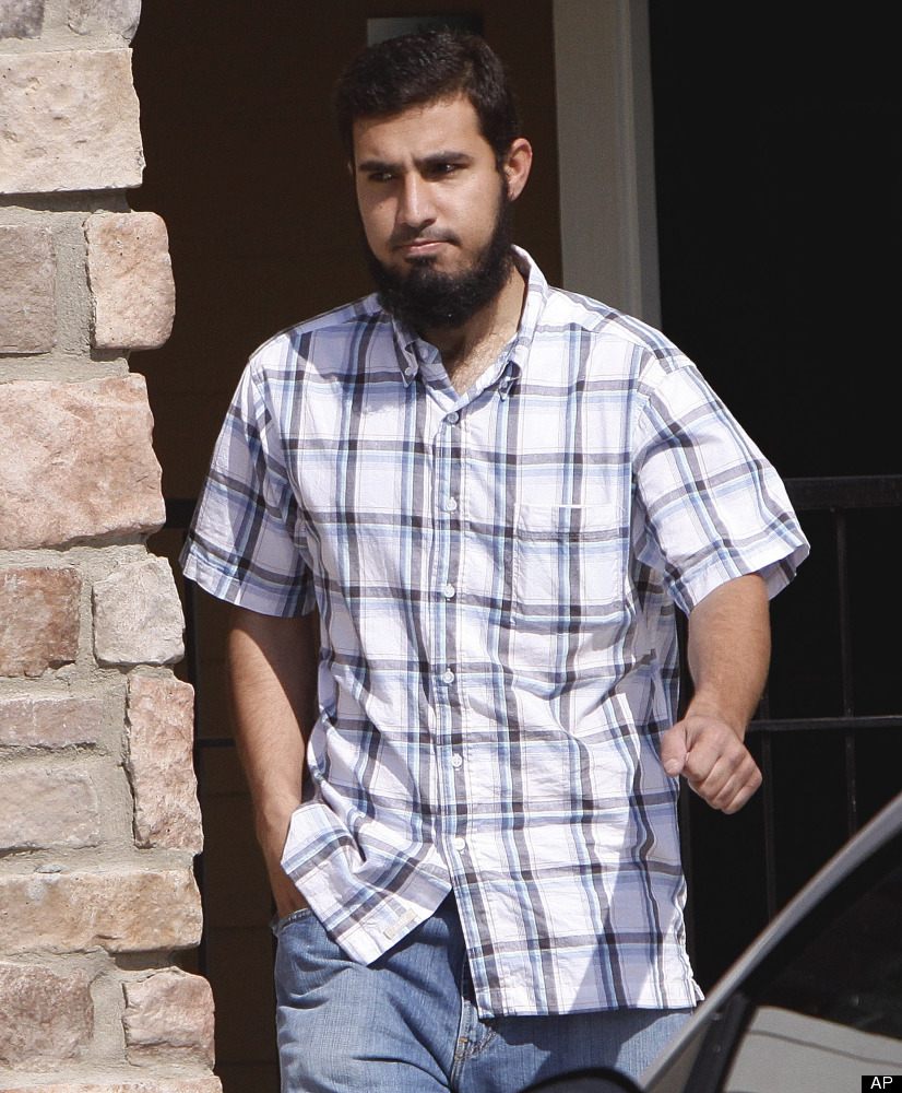 FILE - In this Sept. 17, 2009 file photo, Najibullah Zazi leaves his apartment in Aurora, Colo., for a meeting with his attor