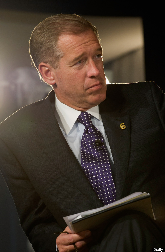 NEW YORK, NY - MAY 07:  Television Journalist Brian Williams speaks at the Robin Hood Veterans Summit at Intrepid Sea-Air-Spa