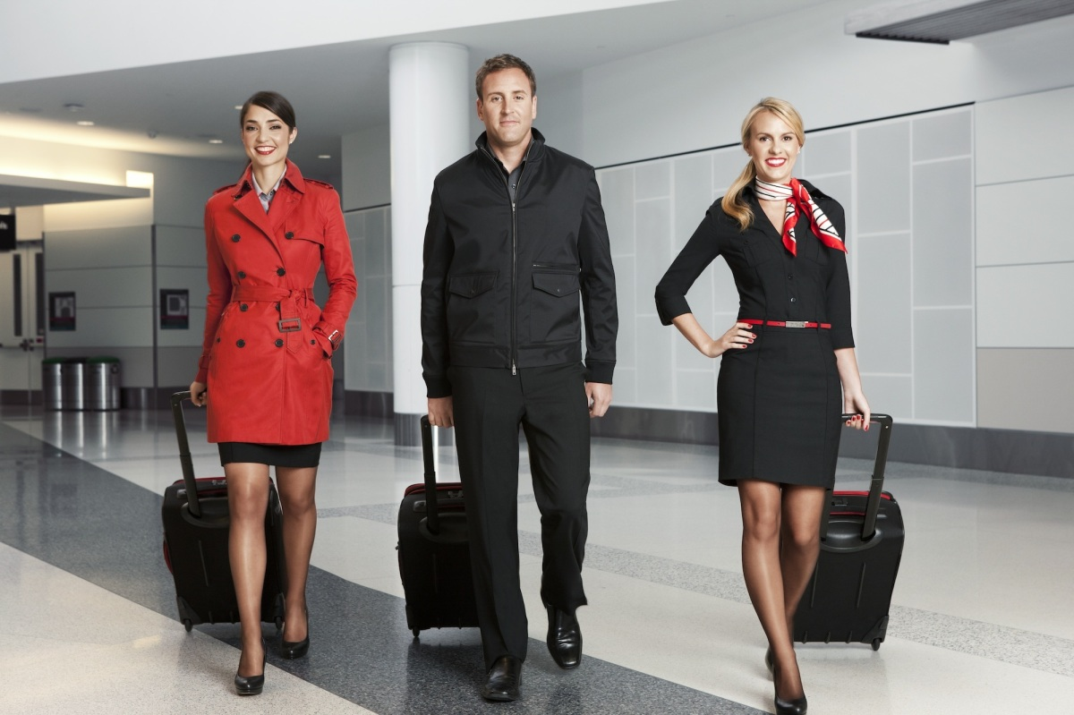 The new Virgin America uniforms were custom built for the day-to-day work and travel ready needs of flight crew and gate agen