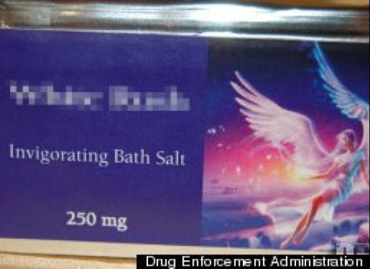 This photo, courtesy of the Federal Drug Enforcement Administration, depicts what a packet of bath salts can look like.