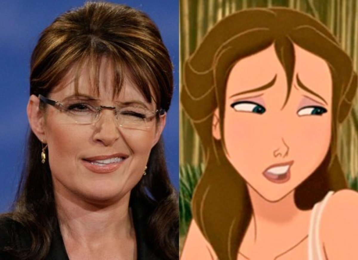 Former Alaska Gov. Sarah Palin (R) & Jane (<em>Tarzan</em>)