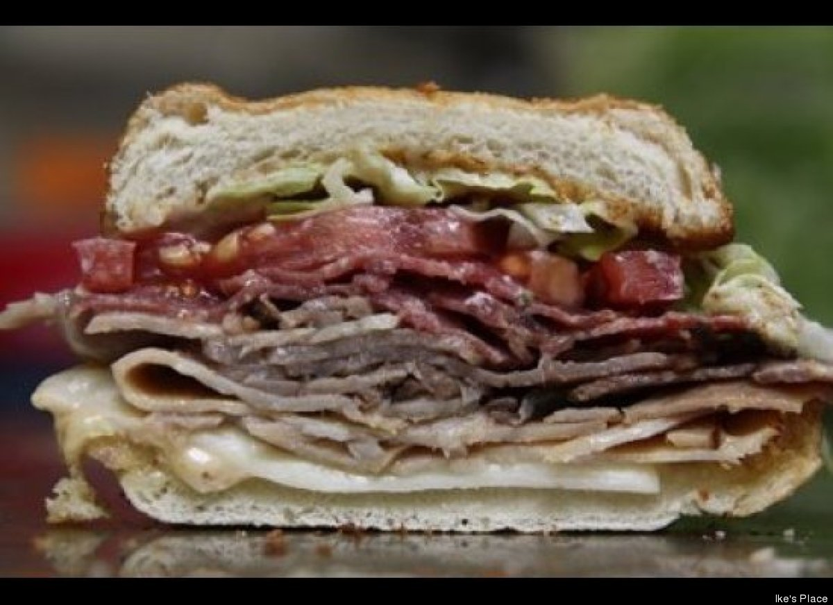 Just think how much better Ike's award-winning Matt Cain Sandwich (roast beef, turkey, salami, godfather sauce and provolone)