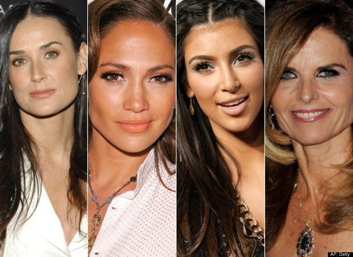 <strong>a) Demi Moore b) Jennifer Lopez  c) Kim Kardashian  d) Maria Shriver </strong>