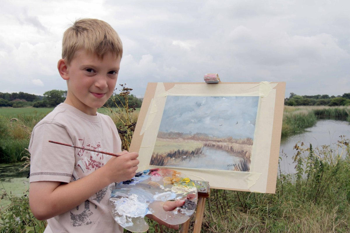 Kieron Williamson is preparing for the launch of a book about his career as an artist - at the 9 years old, and on the cusp o