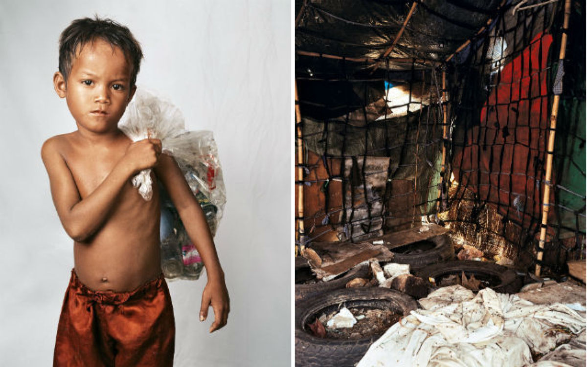 """""""Roathy is eight years old. He lives on the outskirts of Phnom Penh, Cambodia. His home sits on a huge rubbish dump which is"""