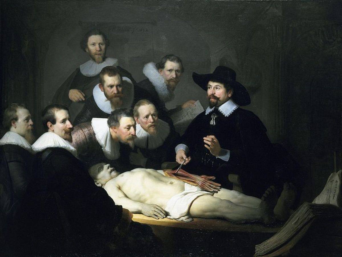 Artist Rembrandt (1606-1669)  TitleThe Anatomy Lesson of Dr. Nicolaes Tulp Date1632 Mediumoil on canvas Wikimedia Co