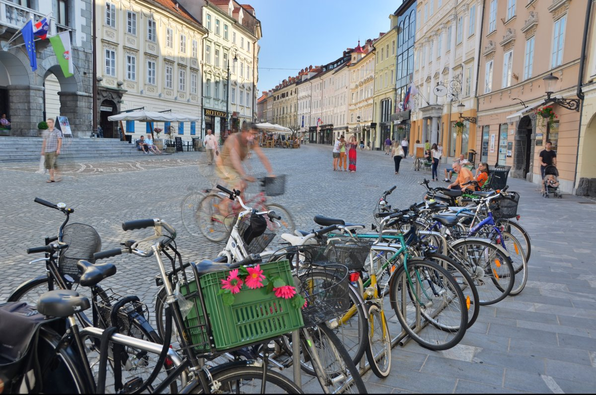 Slovenia's capital Ljubljana is not only charming, but hip. Ljubljana has a thriving cyclist culture that rivals those you fi
