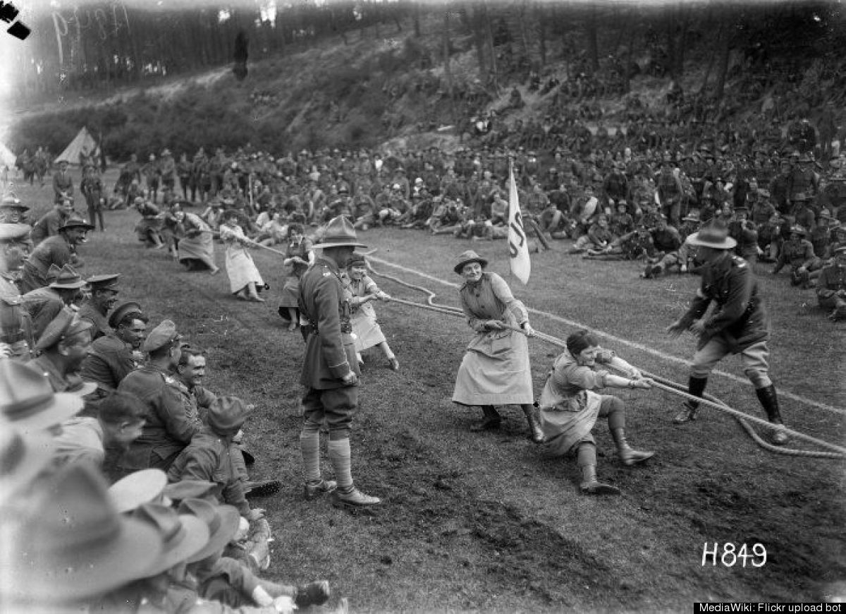 During the 1900 games, competitors from Sweden, Denmark and the French took part in the traditional tug 'o' war game up until