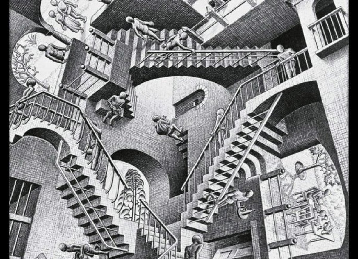 "We had to begin with the man who put optical illusions on the map, <a href=""http://www.huffingtonpost.com/2012/06/17/mc-esche"