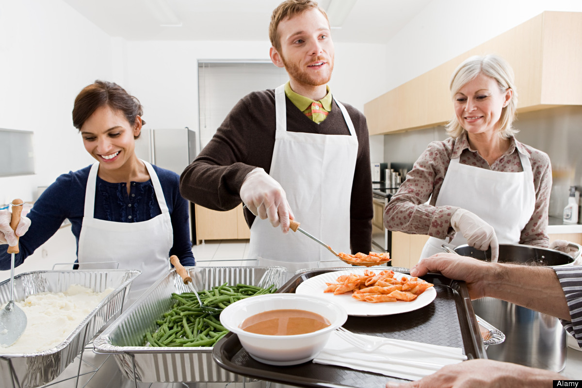 Contact a soup kitchen near your job and offer to help serve supper to those in need tonight after you finish up at the offic