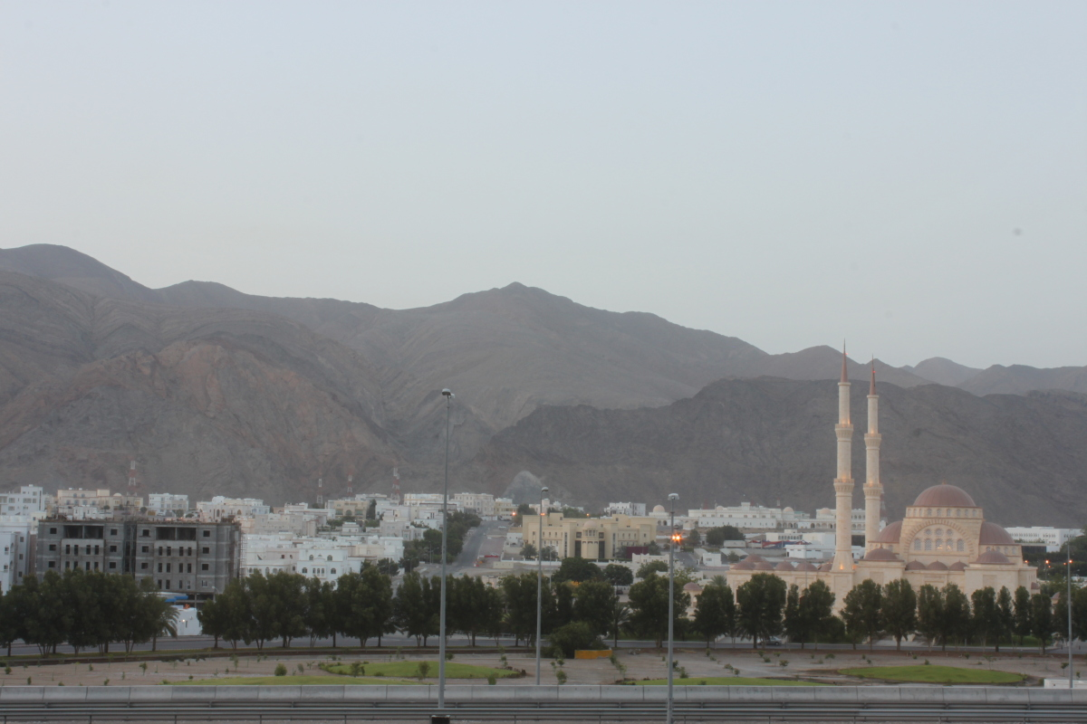The view from the Radisson Blu Hotel, Muscat.