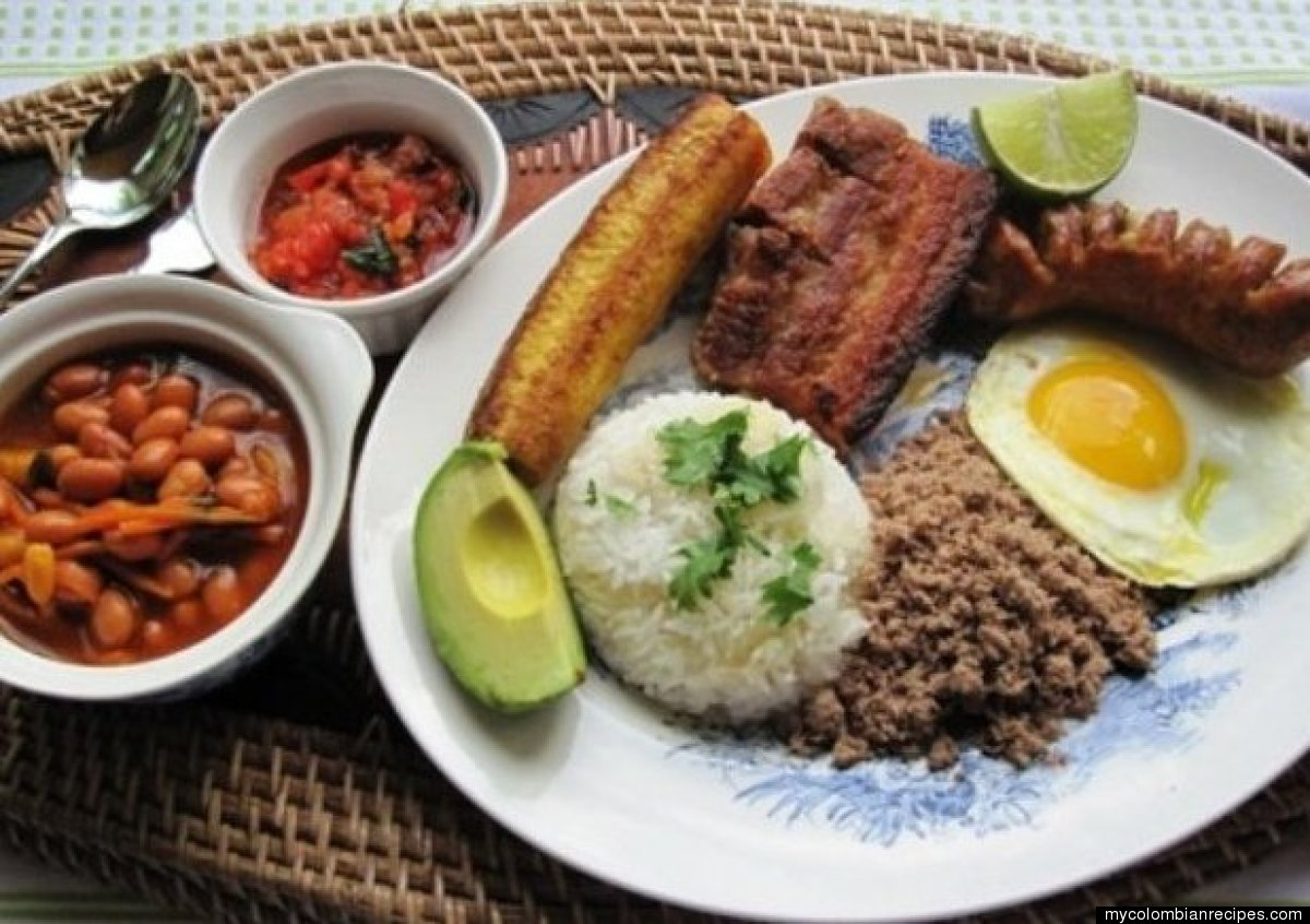 """This """"Paisa"""" Tray is served steaming hot for lunch all over Colombia but originates from the northwestern Department of Antio"""