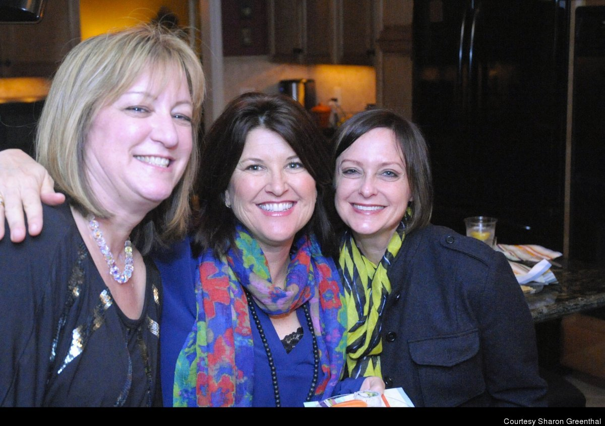 Sharon Greenthal with Teri Cole and Jodi Okun (also a <em>Huffington Post</em> blogger).